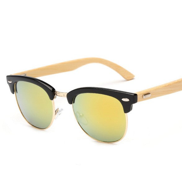 Bamboo sunglasses M37 retrostyle