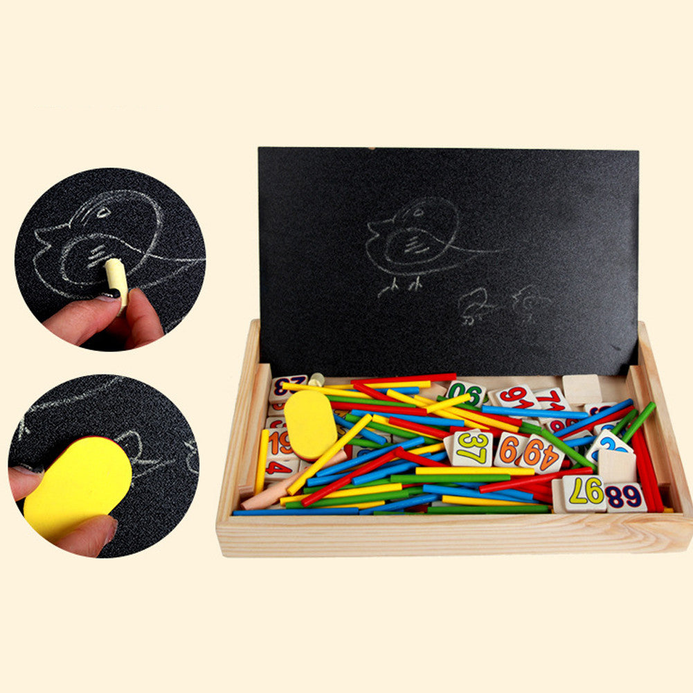 Montessori wooden toys for educational for children playing with numbers, colors, learning with fun
