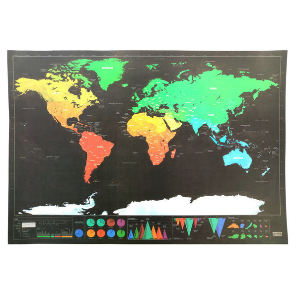 Map to Scratch off the World Edition Deluxe version