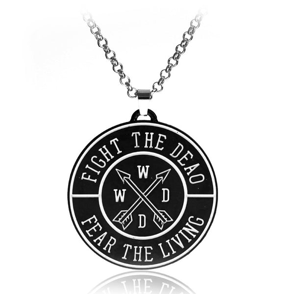 The Walking Dead Necklace Letter logo round pendant for men and women