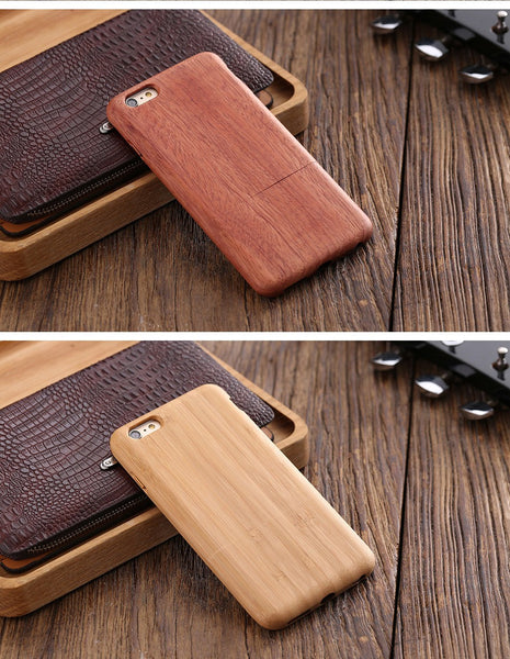 Iphone's case in Real Natural Bamboo wooden- Only Iphone 6 or 6s/ 6 plus or 6s plus
