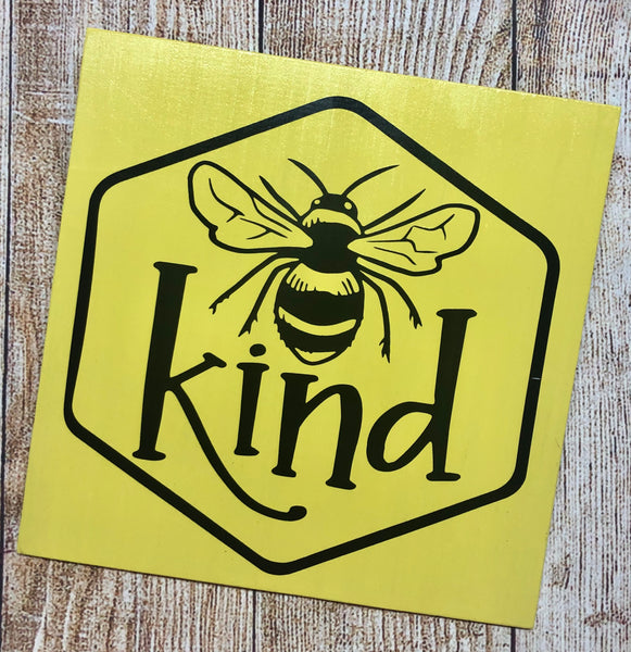 Bee Kind | Bumble Bee Sign | Wreath Sign Attachment | Spring Sign