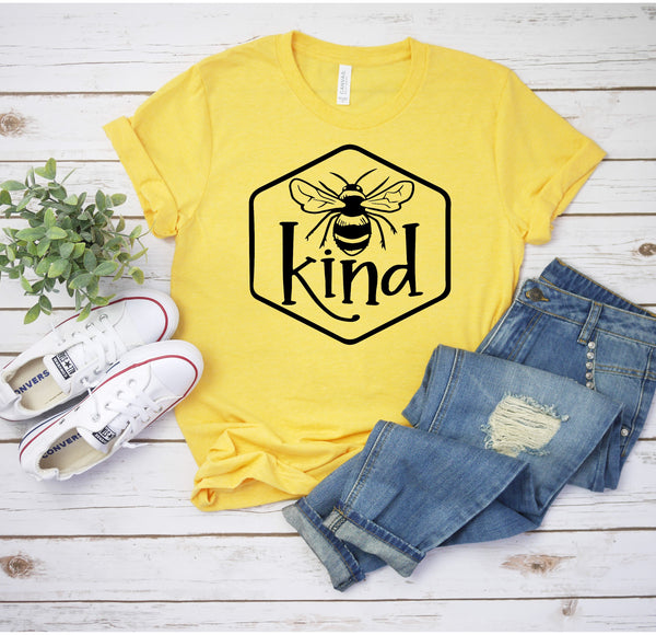 Bee Kind Inspirational Unisex Jersey Short Sleeve Tee