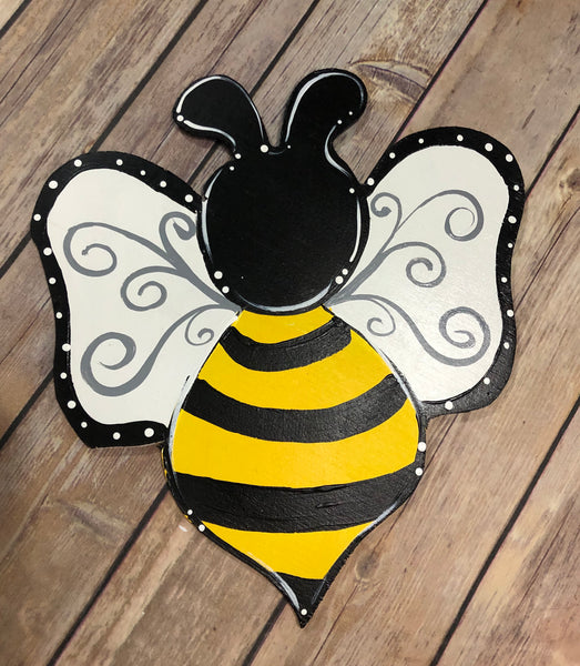 Bumble Bee Sign | Wreath Sign Attachment | Spring Home Decor Sign