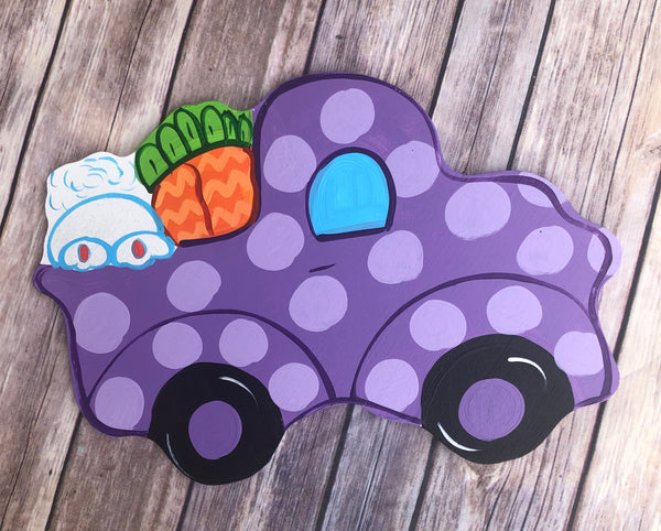 Spring Easter Bunny Butt Truck | Wreath Sign Attachment | Spring Sign
