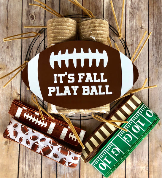 Fall Football Wreath Kit, Football Wreath Kit, Wreath Supplies