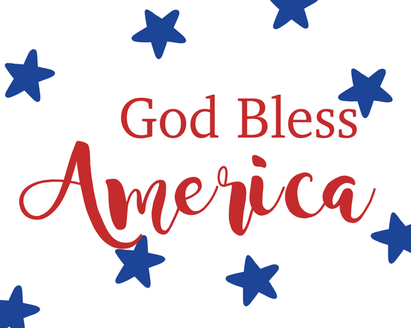 God Bless America Patriotic Sign, Wreath Sign Attachment, Rustic Sign, Farmhouse Decor