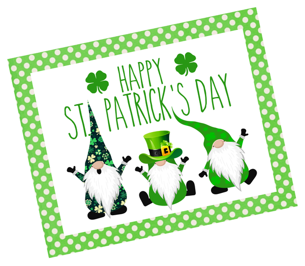 Happy St. Patrick's Day Gnomes Sign | Wreath Sign Attachment | Irish Sign