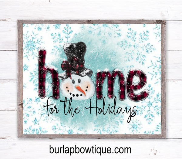Snowman Winter Christmas Holiday Sign, Wreath Sign Attachment, Rustic Sign, Farmhouse Decor