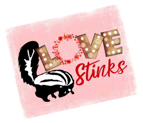 Love Stinks Skunk Valentine Sign, Wreath Sign Attachment, Rustic Sign, Farmhouse Decor