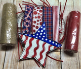 Patriotic Star Wreath Kit, Rustic Farmhouse Wreath Kit, Wreath Supplies