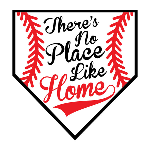 No Place Like Home Plate Baseball Sign, Summer Sign, Wreath Supplies, Wreath Attachment