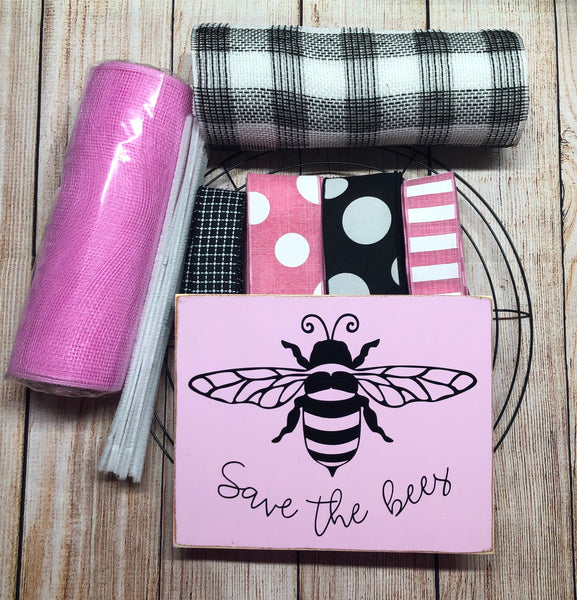 Save the Bees Wreath Kit, Bee Wreath Kit, Wreath Supplies