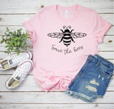 Save the Bees -  Inspirational Unisex Jersey Short Sleeve Tee