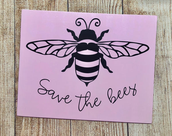 Save the Bees | Bumble Bee | Wreath Sign Attachment | Spring Sign