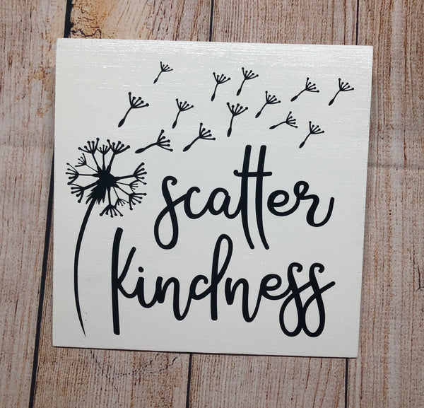 Scatter Kindness Sign, Wreath Sign Attachment, Everyday Decor