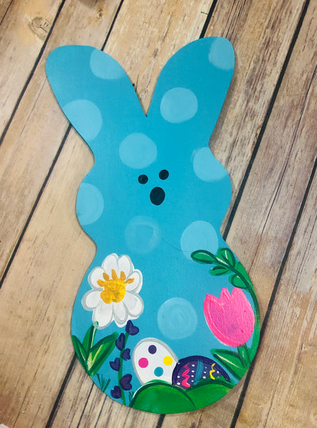 Easter Bunny Sign | Wreath Sign Attachment | Sugar Bunny Spring Sign