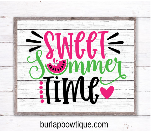 Sweet Summer Time Sign, Wreath Sign Attachment, Rustic Sign, Farmhouse Decor