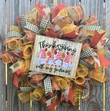 Thanksgiving Gnomies Fall Wreath Kit, Autumn Fall Wreath Kit, Wreath Supplies