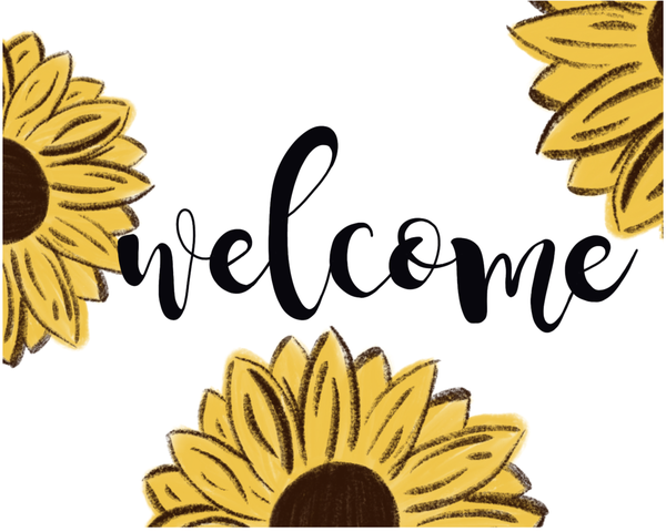 Sunflower Sign, Wreath Sign Attachment, Welcome Fall Sign, Rustic Sign, Farmhouse Decor