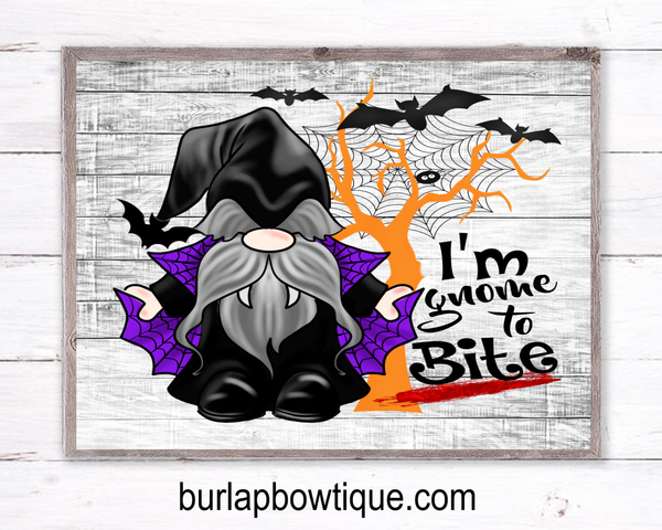 Vampire Gnome Halloween Sign, Wreath Sign Attachment, Halloween Sign