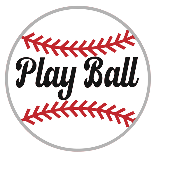 Play Ball Baseball Sign, Wreath Supplies, Wreath Attachment