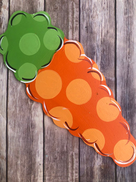 Spring Easter Carrot | Wreath Sign Attachment | Garden Spring Sign