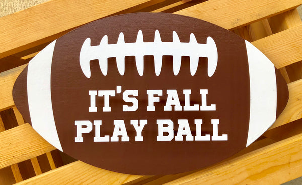Football Sign, Fall Sign, Wreath Sign Attachment, Football Sign, Rustic Sign