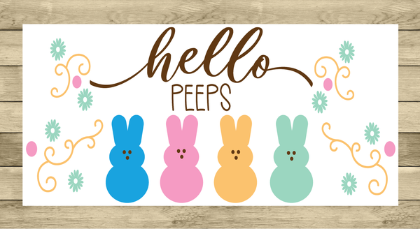 Hello Easter Bunny Sign | Wreath Sign Attachment | Farmhouse Spring Sign
