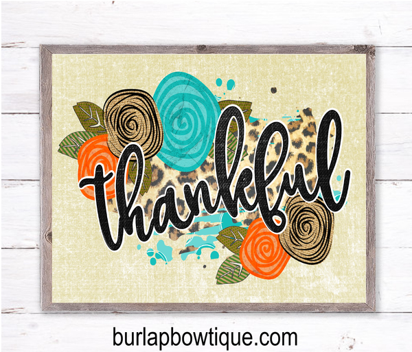 Thankful Fall Sign, Wreath Sign Attachment, Rustic Sign, Farmhouse Decor