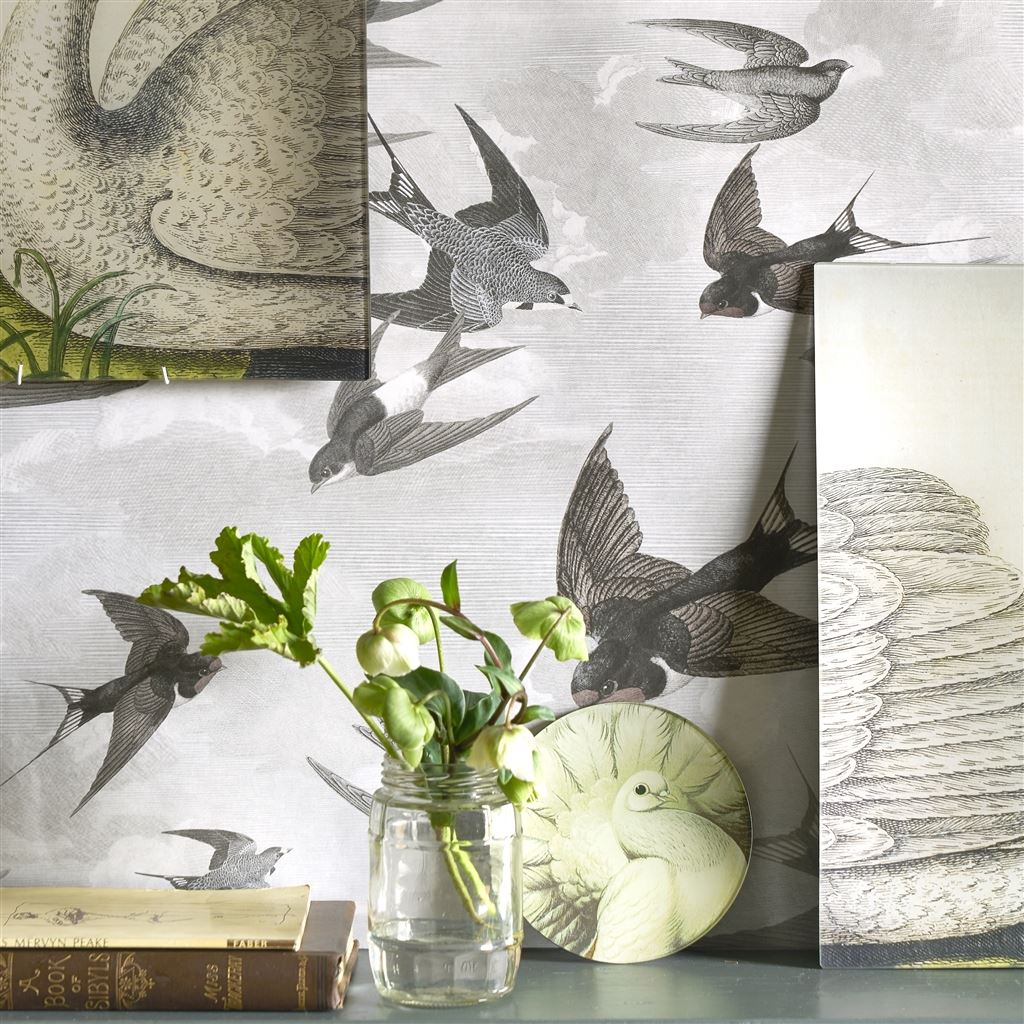John Derian Swallows Wallpaper