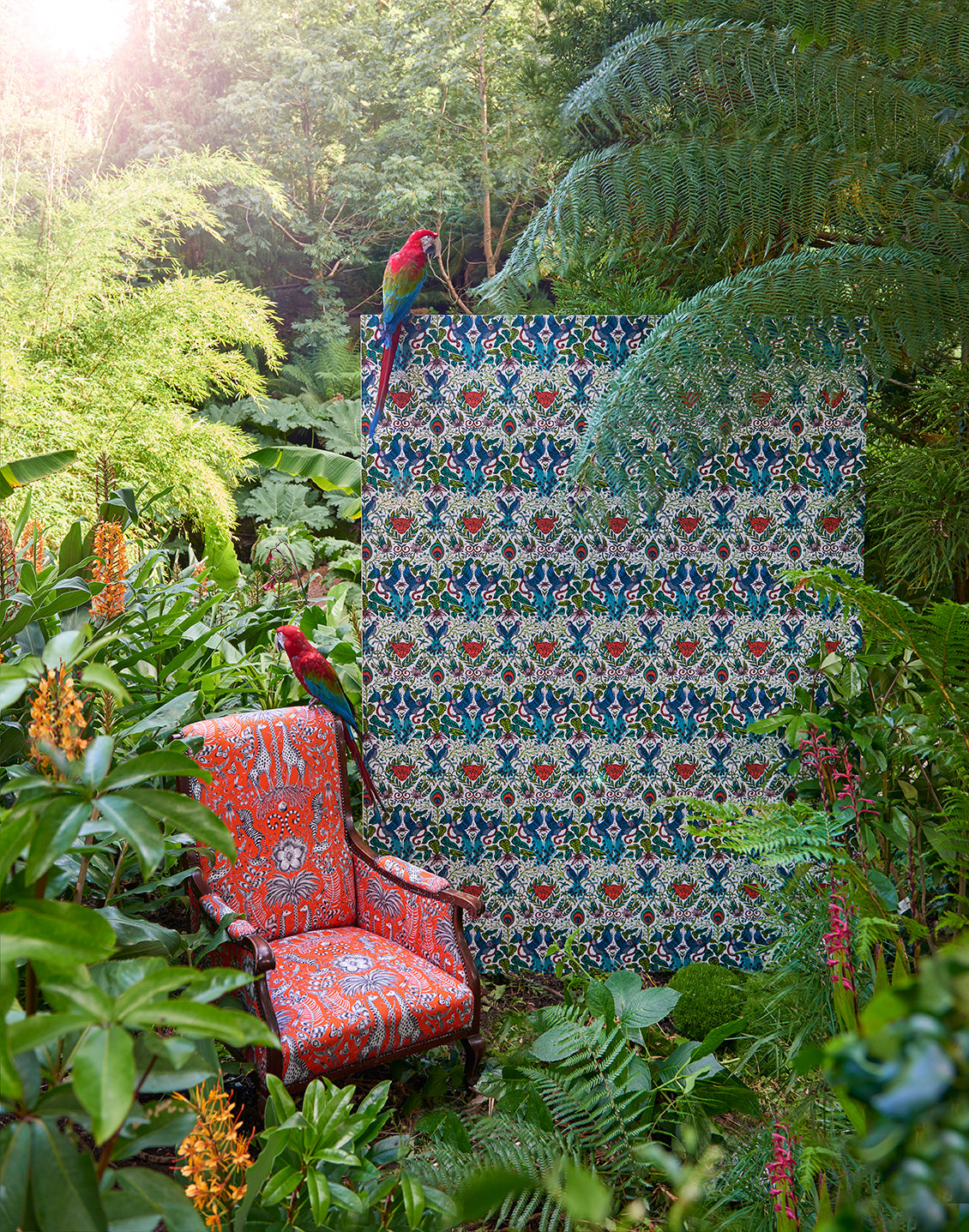 Animalia wallpaper and chair