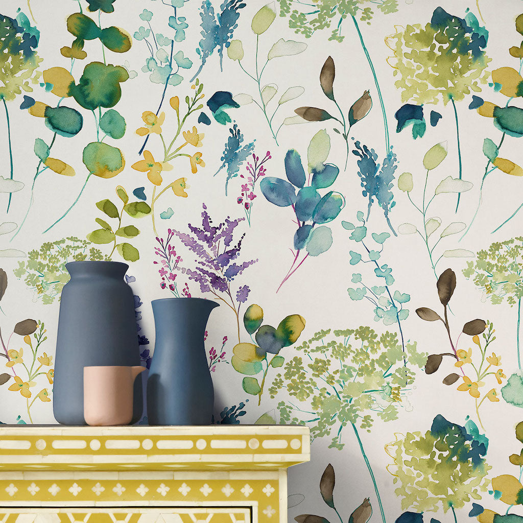 Botanical Wallpaper Bluebellgray