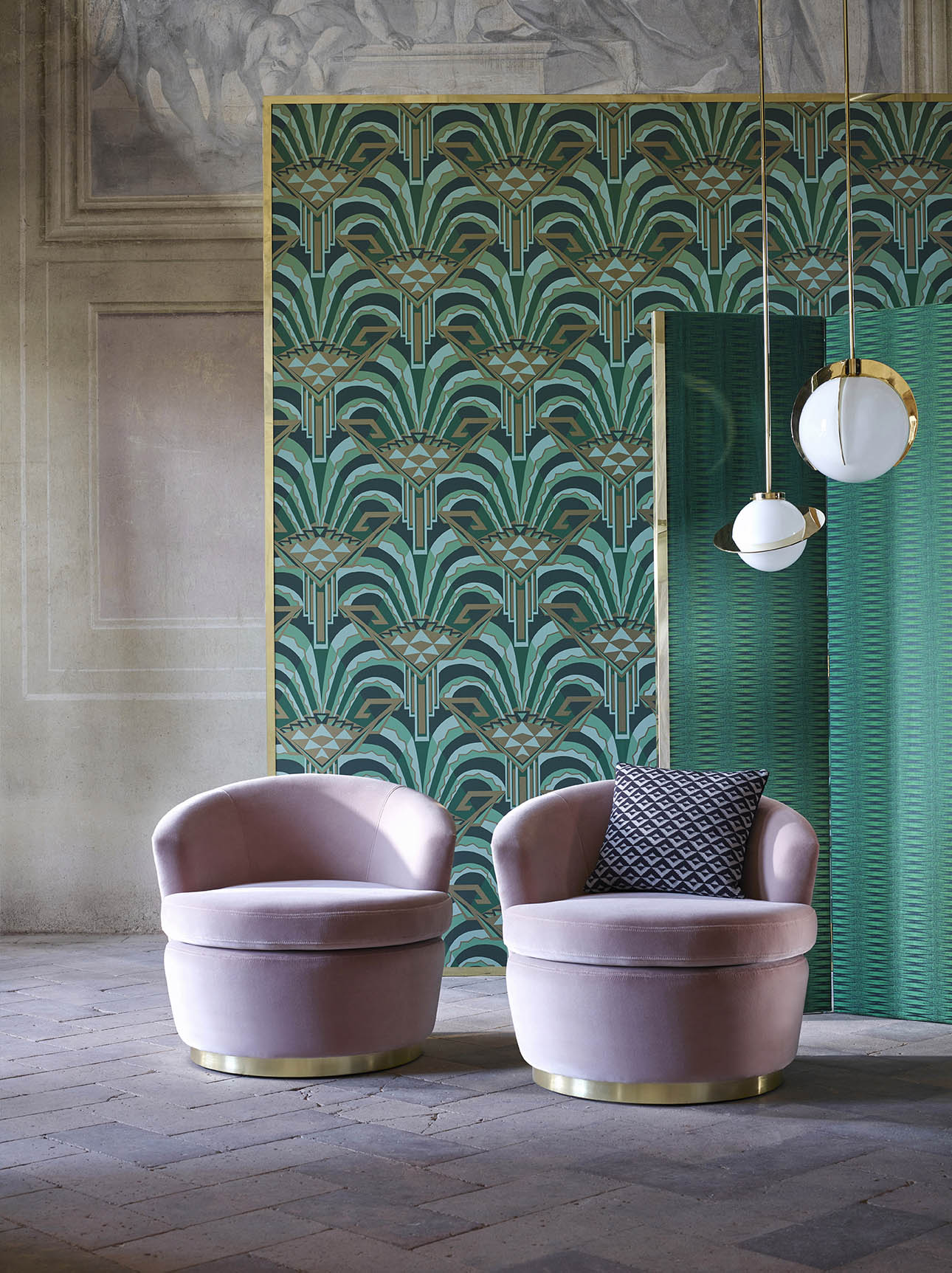 Conway wallpaper Zoffany Muse Mister Smith Interiors