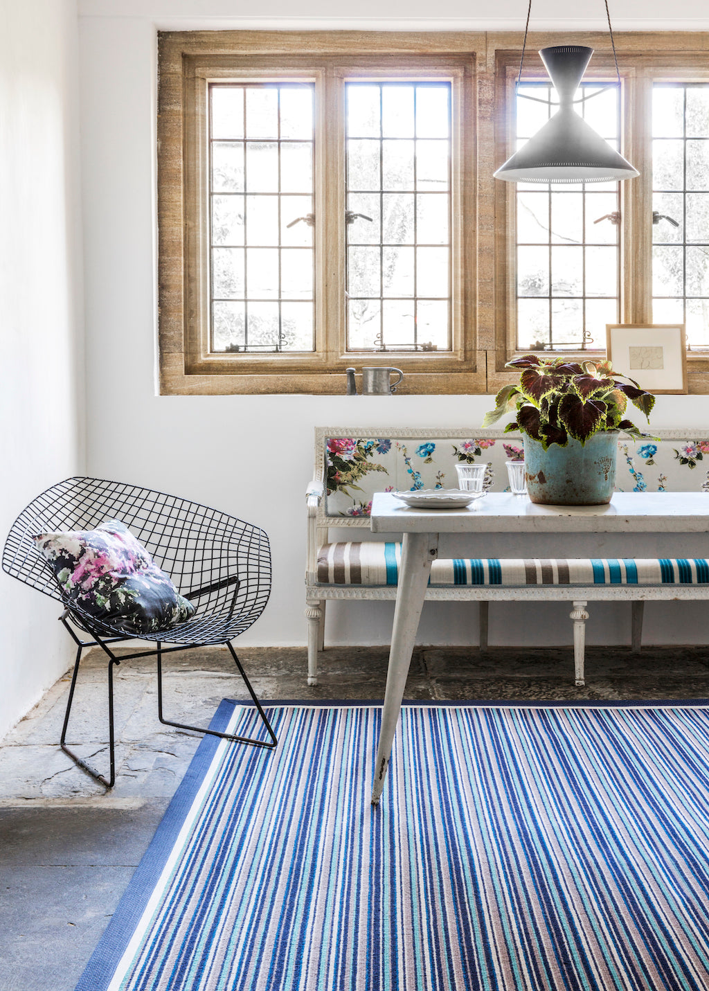 Stripey Rug in lovely country cottage
