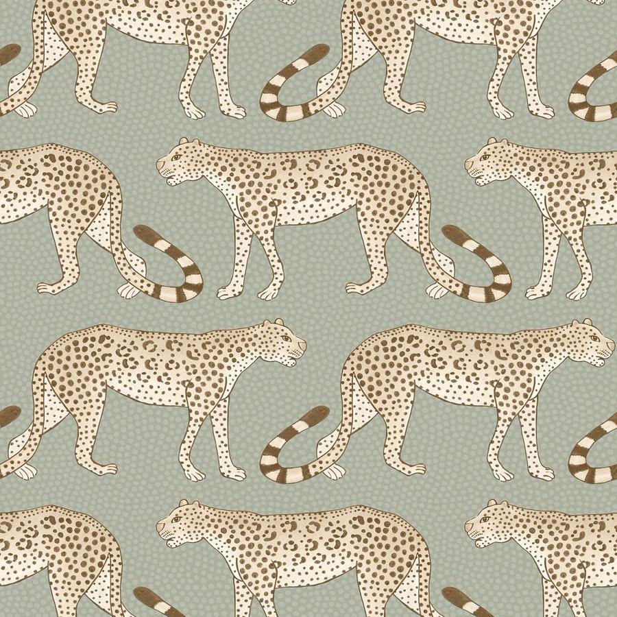 Leopard Walk Wallpaper - Black & White - Cole & Son