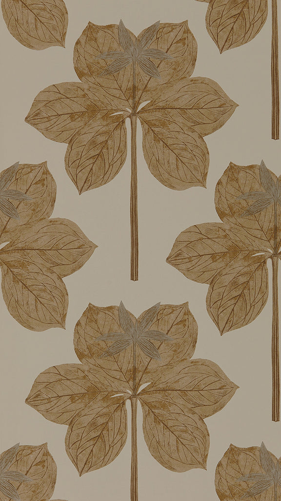 Lovers Knot Wallpaper - Truffle - Harlequin
