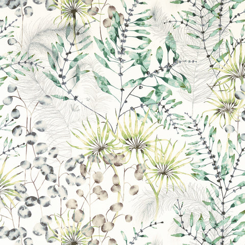 Postelia Fabric - Emerald/Lime - Harlequin