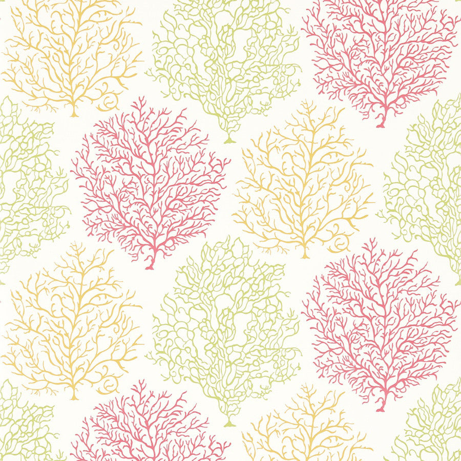 Coral Reef Wallpaper - Teal/Mauve - Sanderson
