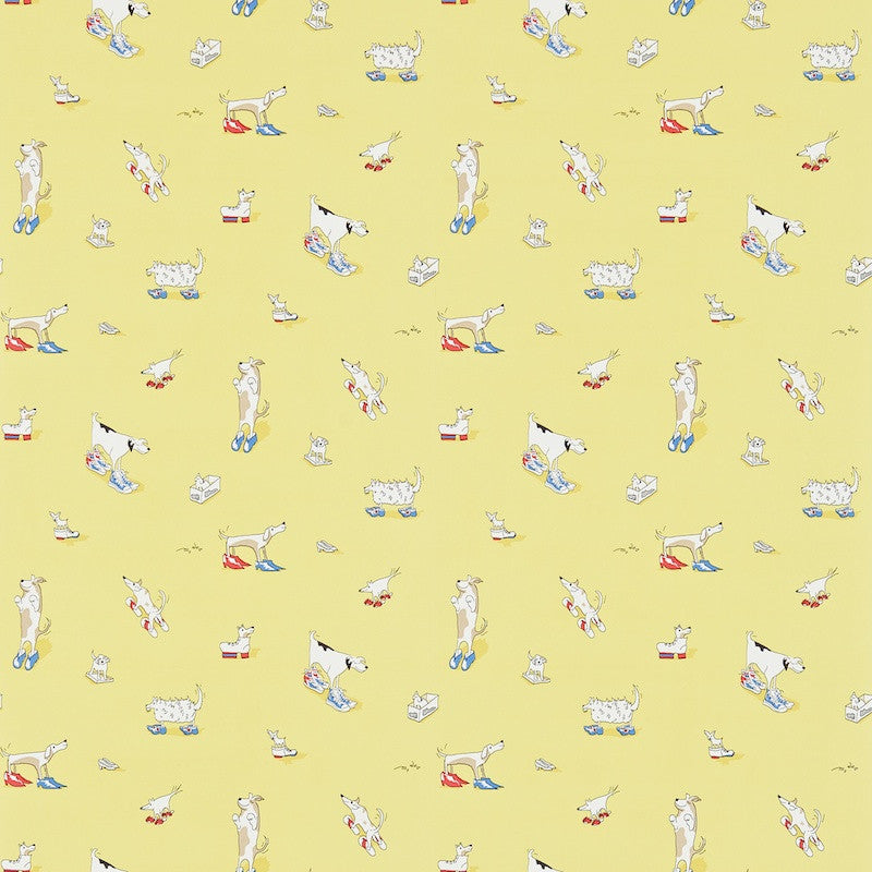 Dogs In Clogs Wallpaper - Rainbow Brights - Sanderson