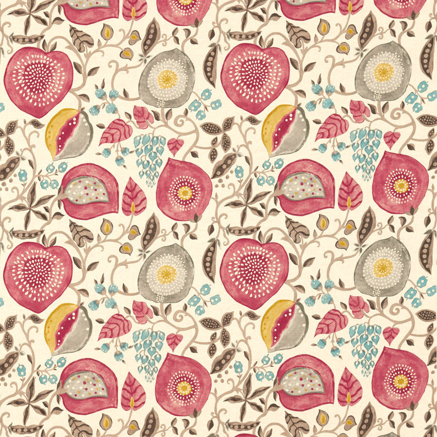 Peas & Pods Fabric - Leaf Green/Ivory - Sanderson