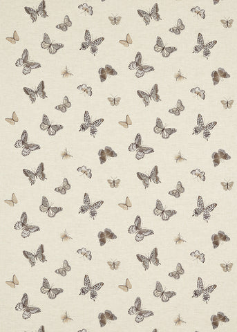 Butterfly Embroidery - Charcoal/Walnut - Sanderson