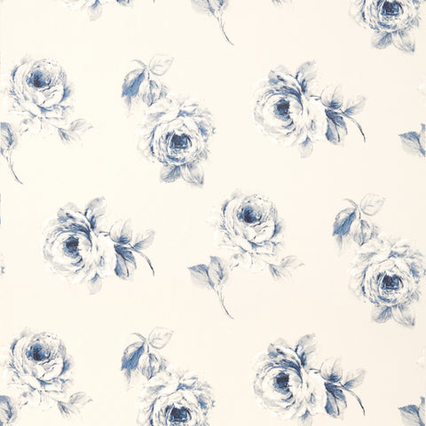 Rosa Cotton Fabric - Indigo - Sanderson