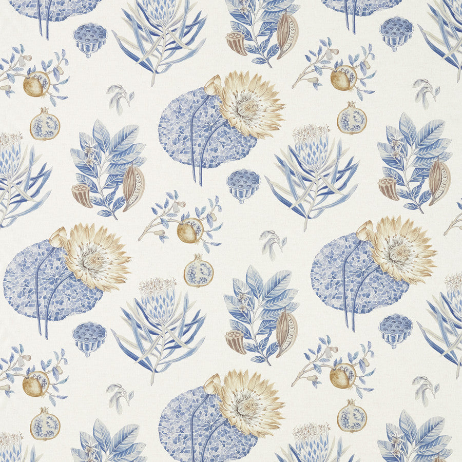 Lily Bank Fabric - Sepia/Multi - Sanderson
