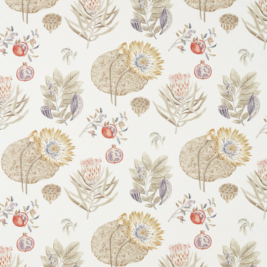 Lily Bank Fabric - Fig Forest - Sanderson
