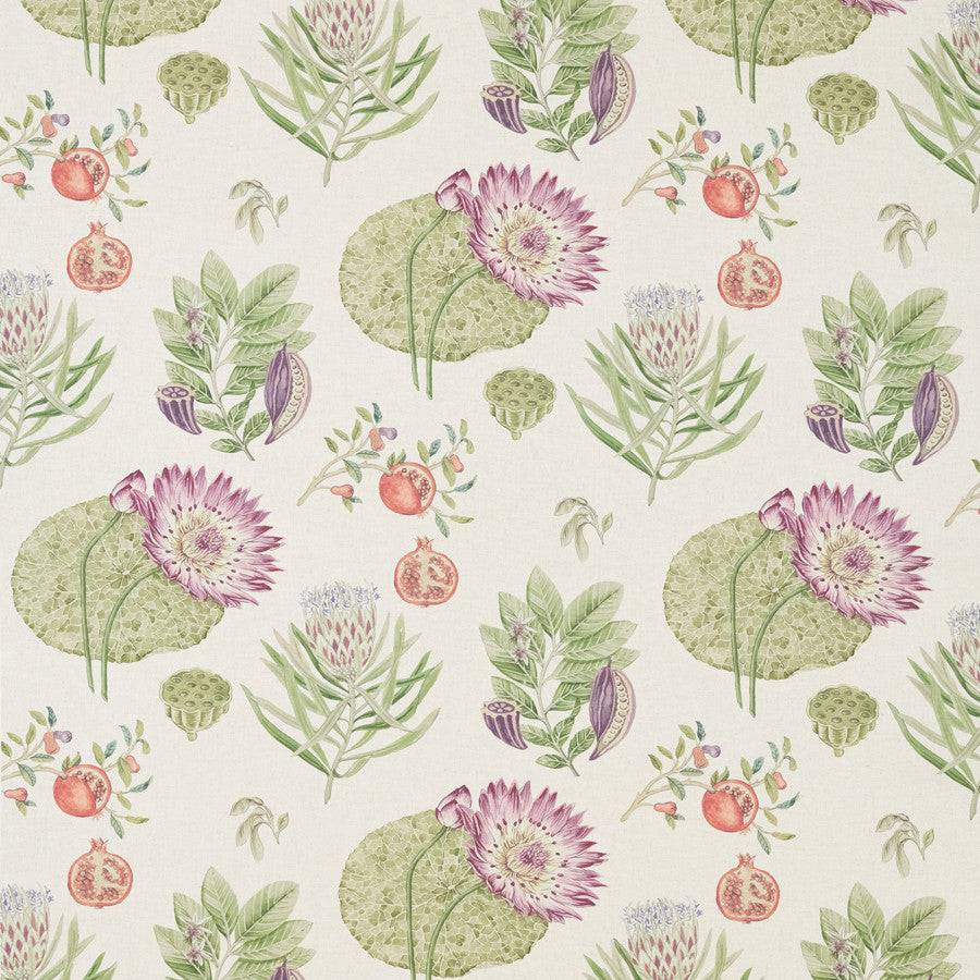 Lily Bank Fabric - Garden Green - Sanderson