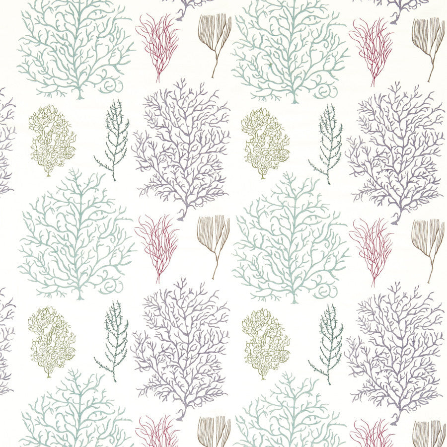Coral Reef Embroidered Fabric - Sanderson