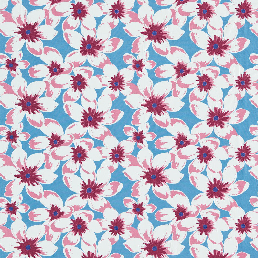 Olanda Fabric - Dove/Teal - Sanderson