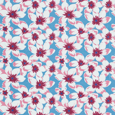 Olanda Fabric - Powder Blue/Pink - Sanderson