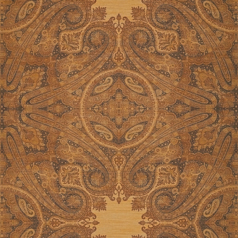 Elswick Paisley Wallpaper - Blue Umber - Zoffany